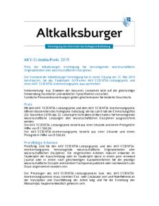 AKV-Scientia-Preis 2019